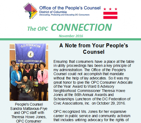 The OPC CONNECTION - November, 2016