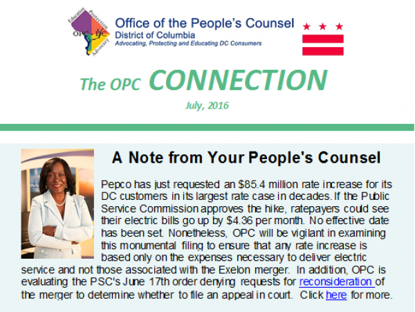 The OPC CONNECTION - July 2016