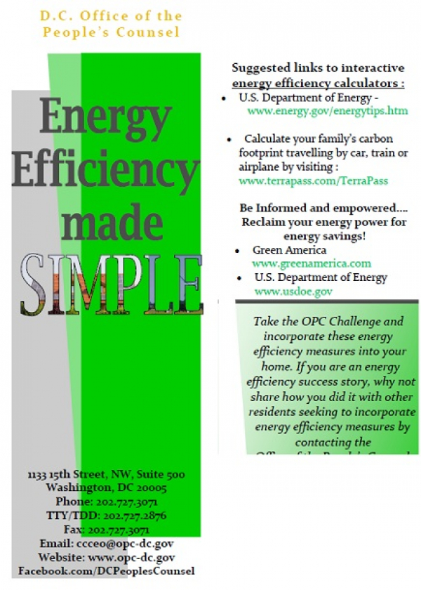 Energy Efficiency Made Simple: Tips and tactics you can use to start saving right away on your energy services